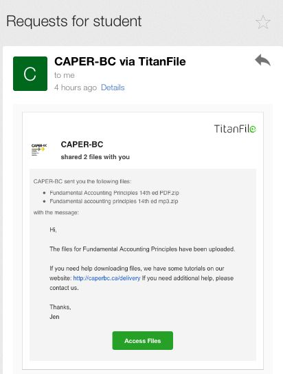 Download files to an iPad | CAPER-BC